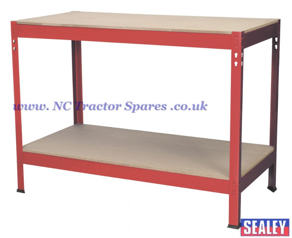 Workbench 1.2mtr Steel Wooden Top